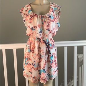 AUW floral  mini dress size Medium